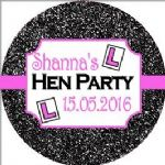 Personalised Hen Night Sticker Design 18